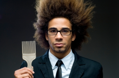 Natural Hair Male with an Afro Pick